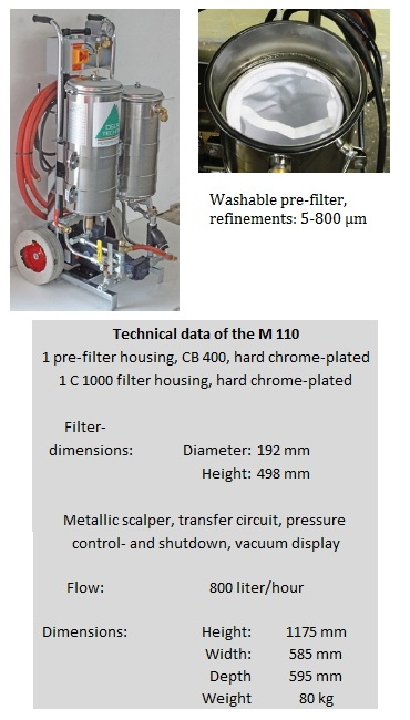 Mobile ultra fine filter system M 110