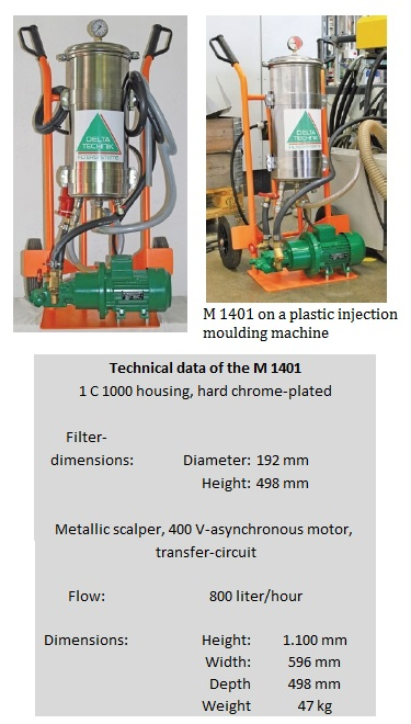 Mobile ultra fine filter system M 1401